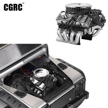 Ventilador de Motor simulado V8 F82 para coche, radiador clásico para coche trepador de control remoto Traxxas TRX4 SCX10 Rc4wd D90 VS4, actualización