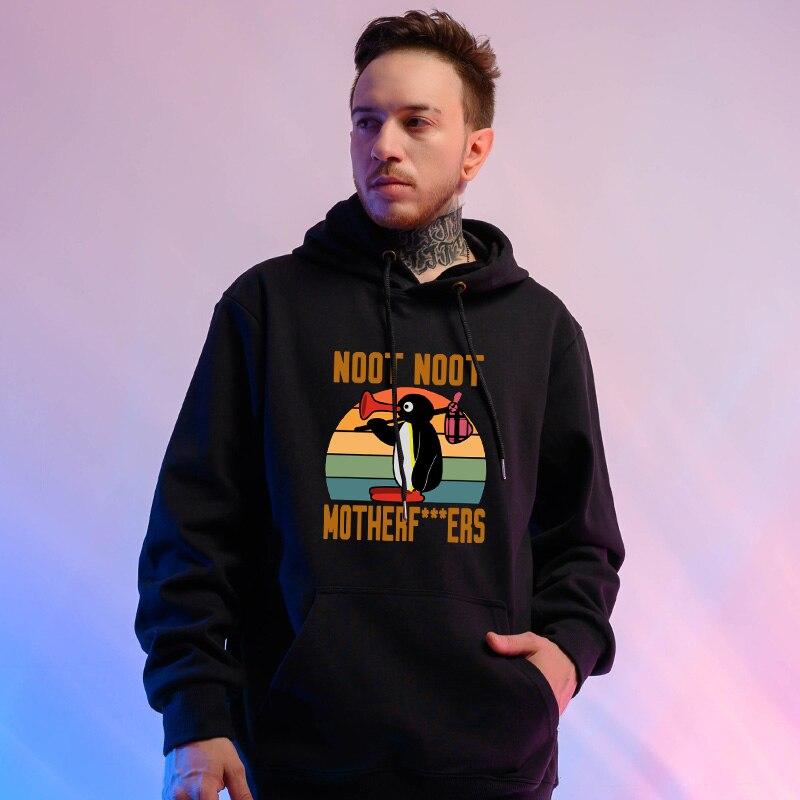 New Sweatshirt Harajuku Hoodies NOOT NOOT MOTHERFERS Hip Hop Streetwear Sweatshirt For Men Winter Pullover Sweatshirts Womens