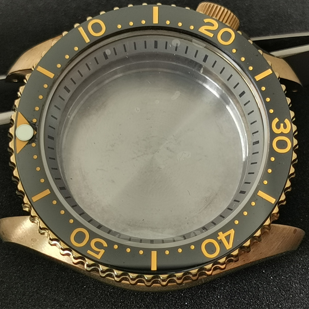 For Seiko Aluminum Bronze Watch Case Sapphire Crystal 200M Waterproof Watch Case Suitable For NH35A/NH36A Automatic Movement