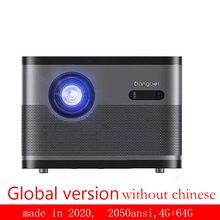 DLP projektör ev yüksek çözünürlüklü akıllı video projektör cep telefonu projeksiyon TV akıllı küçük projektör kablosuz Dangbei F3