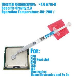 1pcs GD900 CPU Cooler Thermal Grease Paste CPU VGA LED LCD Cooling Fan Heatsink