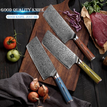 Damascus Steel Chef Knife Japanese VG10 Core Blade Razor Sharp Kitchen Knives G10 Handle Meat Slicer G10 Handle Premium Gift Box