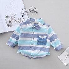 Plaid SHIRT Blouses Spring Long-Sleeve Kids Cotton Children Boy Autumn Multicolour Casual