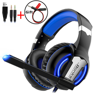 Gaming Headset Headphones with Microphone Light Surround Sound Bass Earphones For PS4 Xbox One Professional Gamer PC Laptop(China)