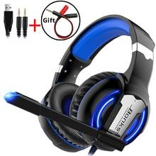 Oyun kulaklığı mikrofonlu kulaklıklar ışık Surround ses bas kulaklık PS4 Xbox One profesyonel oyun PC dizüstü bilgisayar