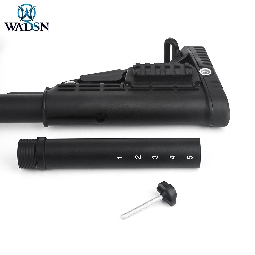WADSN 6 позиционная металлическая буферная трубка для M4/M16 серии Airsoft AEG винтовка Выдвижная Стоковая прикладочная площадка съемка обновленные ...