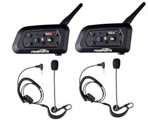 Image 1 - 2 шт., гарнитура Fodsports V6 Pro для футбольного рефери, Bluetooth гарнитура для рефери, BT, беспроводная гарнитура для переговорного компьютера, футбольного тренера