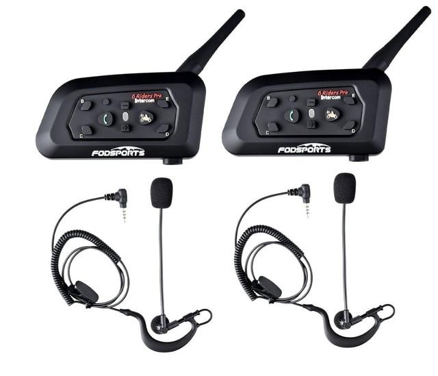 2 шт., гарнитура Fodsports V6 Pro для футбольного рефери, Bluetooth гарнитура для рефери, BT, беспроводная гарнитура для переговорного компьютера, футбольного тренера