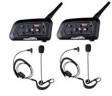 2 Pcs Fodsports V6 Pro Football Referee Intercom Bluetooth Referee Headset BT Wireless Interphone Judge Football Coach Earphone