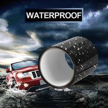 Super silny włókno wodoodporna taśma Stop przecieki uszczelka taśma naprawcza wydajność taśma samoprzylepna taśma klejąca Fiberfix taśma klejąca tanie tanio Hydraulika Seal Repair Tape Taśma Maskująca Black 100mm 0 5mm 20mil 800 Volts -60 C to 260 C up to 5 bar 1 2 3 4 5 10pcs