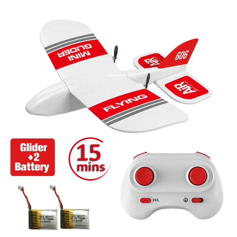 KF606 RC Airplane Flying Aircraft EPP Foam Glider Toy Airplane Rc 2.4Ghz 15 Minutes Fligt Time Foam Plane Toys For Kids Gifts