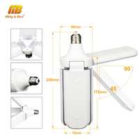 Lámpara LED sin parpadeo ventilador luz 45W E27 blanco cálido blanco AC220V Bombillas LED foco para lámpara de mesa bombolas LED iluminación del hogar