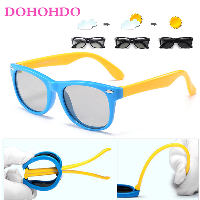 DOHOHDO New Style Child Polarized Sunglasses Fashion Glasses Boys Girls Baby Anti-UV400 Photochromic Sun Glasses Oculos De Sol
