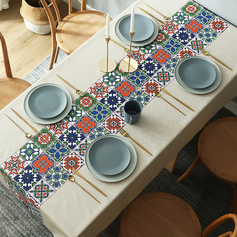 Nordic table cloth waterproof oil proof wash free PVC table cloth tea table cloth art table mat tablecloth