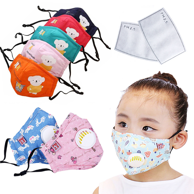 1Pcs Anti Dust Face Mouth Mask Reusable Breathable Cotton Protective Children Kid Cartoon Cute PM2.5 Anti-Dust Mouth Face Mask