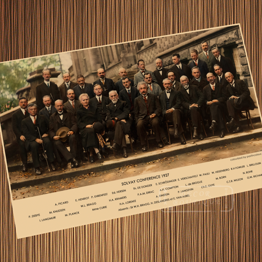 Solvay Conference Diagram Scientist Quantum Shine Retro Vintage Poster  Canvas Painting Wall Paper Home Decor Gift canvas painting poster canvasdiy  canvas painting - AliExpress