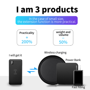 "Image 3 - 10000mah QC3.0 פ""ד מהיר מטען כוח בנק מטען אלחוטי עבור Iphone סמסונג Tablet סוג C USB 3 ב 1 18650 Powerbank Poverbank"