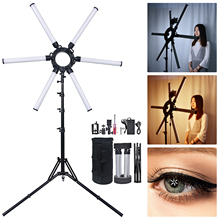 Fosoto Fotografie Led Star Ring Licht 120W Multimedia Extreme Ring Video Lamp Met Tripod Stand Voor Telefoon Camera Youtube