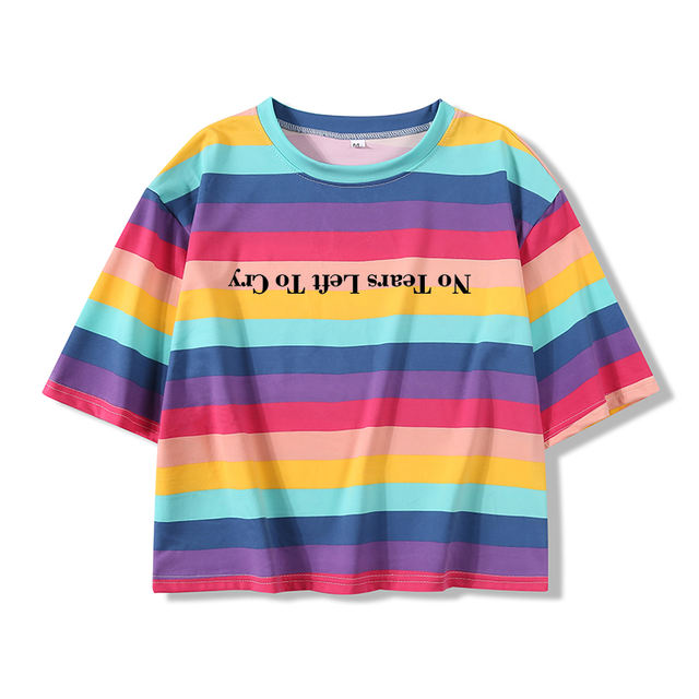 ARIANA GRANDE NO TEARS LEFT TO CRY CROP TOP T-SHIRT