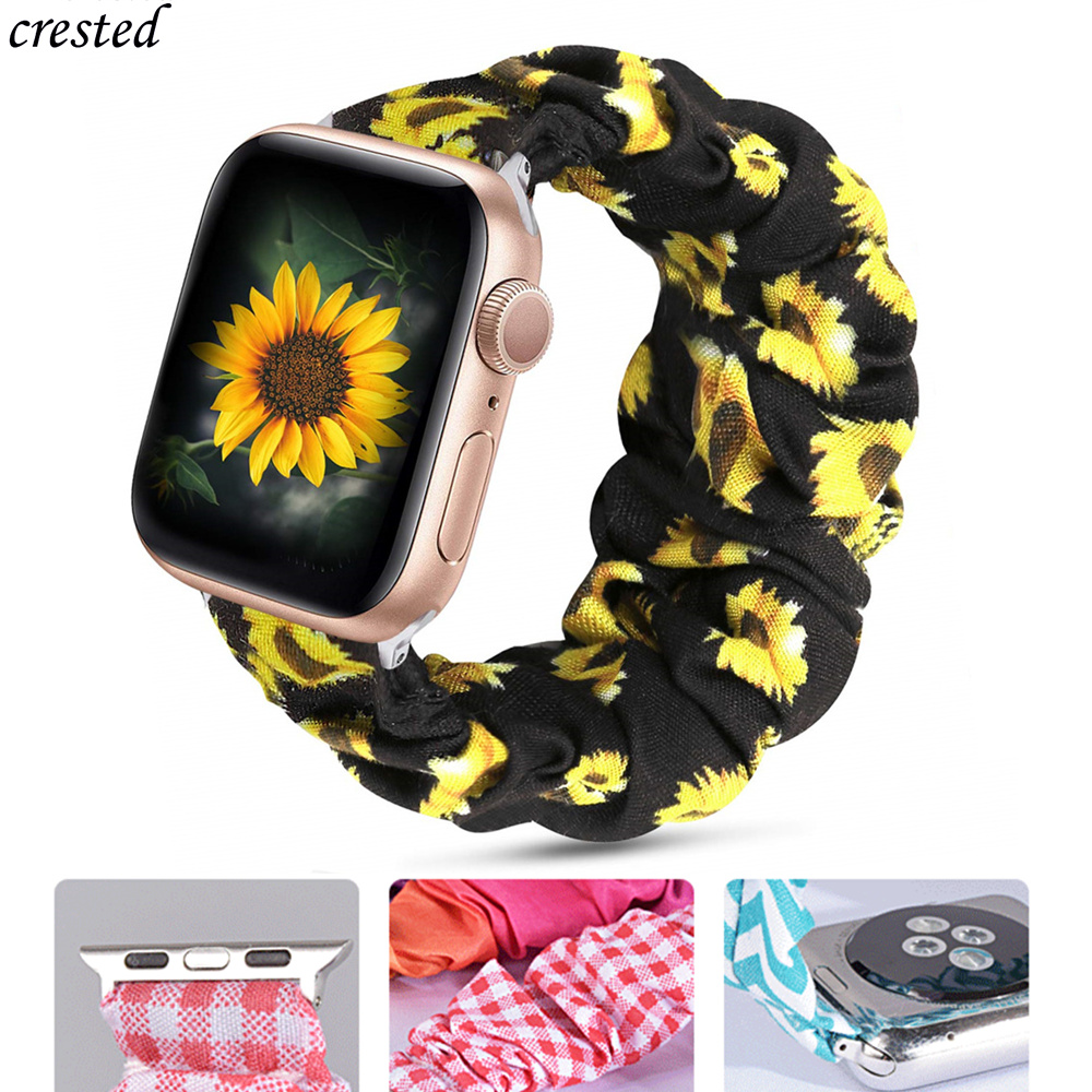 Scrunchie Strap For Apple Watch Band 40mm 44mm IWatch Band 38mm 42mm Women Belt Bracelet Apple Watch 5 4 3 2 42/44 38/40 Mm