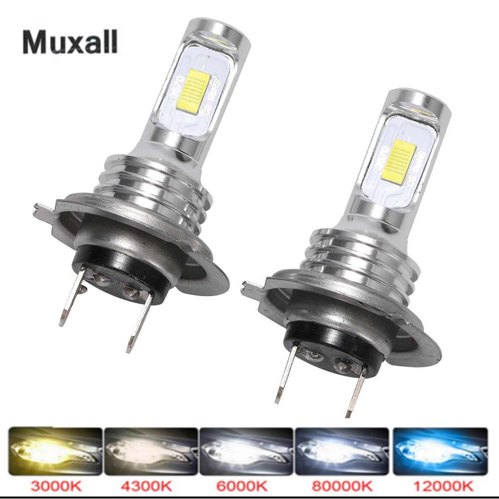 Muxall LED CSP Mini H7 Đèn LED Cho Xe Ô Tô Bóng Đèn Pha H4 LED H8 H11 Sương Mù HB3 9005 HB4 đá Xanh Dương 8000K 3000K Tự Động 12V