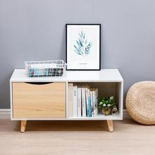 Coffee-Table Furniture Office Small Nordic Home for Magazine-Shelf Desk HWC Sofa-Side