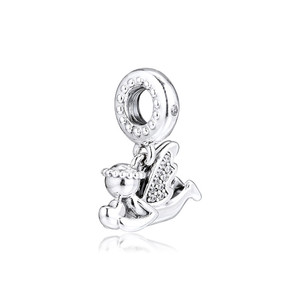 Image 1 - Clear CZ Angel of Love Dangle New 2019 Winter Collection 925 Sterling Silver Charms for Bracelets & Bangles DIY Jewelry Making