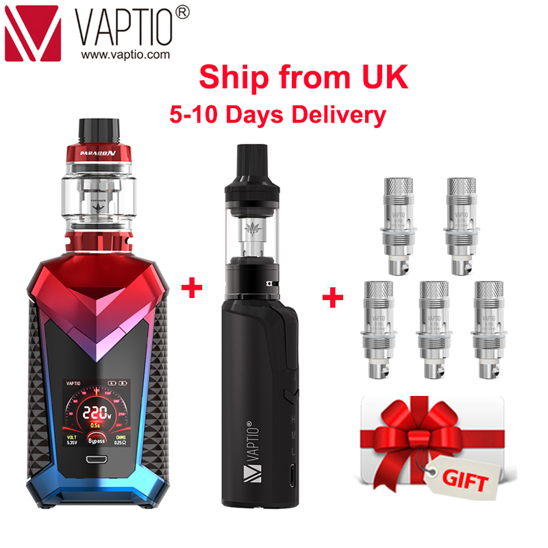 【UK SHIPPING】Original Vape 220W Vaptio SUPER CAPE KIT E Cigarettes Vape Tank 8.0ml Fit 510 Refillable Atomizer 810 Drip Tip