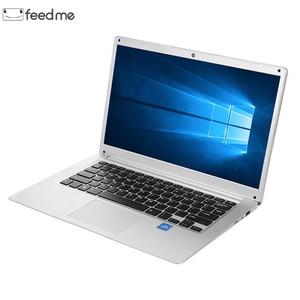 Image 1 - feed me 14.1 Inch Laptop 2GB RAM 32GB ROM Intel Atom X5 Z8350 Quad Core CPU Windows 10 HD Screen Notebook BT4.0 with HDMI Port