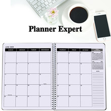 Office Planner July 2021- June 2023 Monthly Calendar Black -9 x 11 Time Management Personal Planner Hard PVC Cover with Spiral