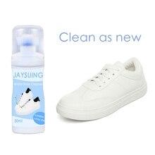 50 мл белые туфли очиститель с щетка для обуви бытовой отбеливания для полировки, очистки инструмент для кожаные ботинки кэжуал кроссовки