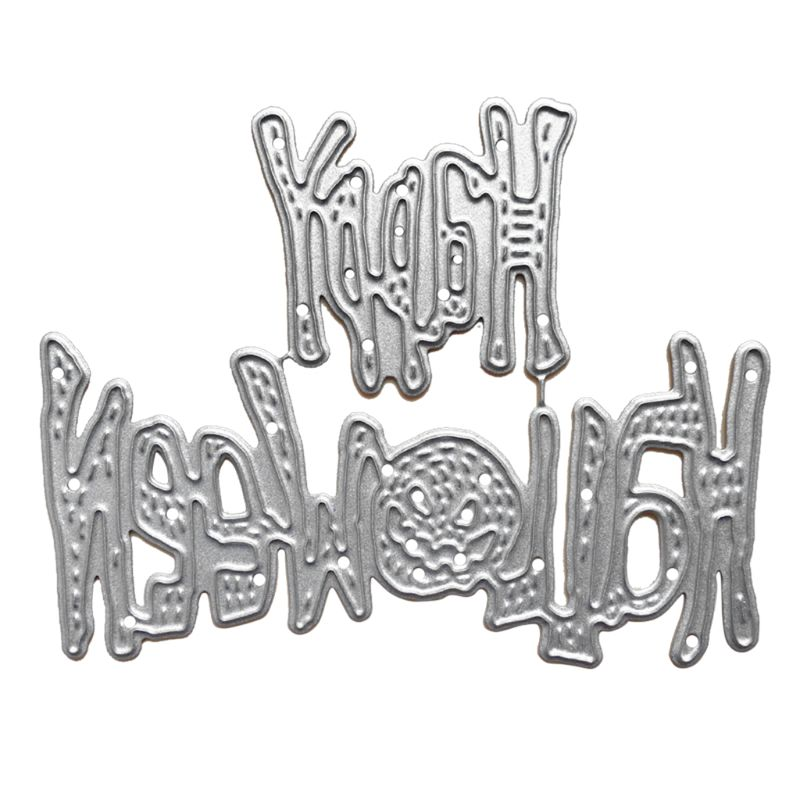 Metal Cutting <font><b>Dies</b></font> Happy <font><b>Halloween</b></font> Cutting <font><b>Dies</b></font> Stencil DIY Scrapbooking Album <font><b>Stamp</b></font> Card Embossing for <font><b>Halloween</b></font> <font><b>Dies</b></font> image