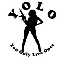 Personalized car stickers decals you only live once girl machine