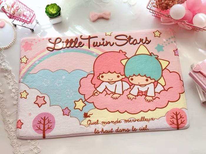 Cartoon My Melody Cinnamoroll Pudding Dog Little Twin Stars Sumikko Gurashi Totoro Soft Carpet Rugs Anti-slip Floor Mat Foot Pad
