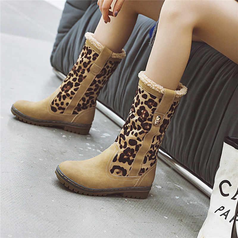 ASUMER 2020 yeni yarım çizmeler yuvarlak ayak rahat bayanlar kış çizmeler üzerinde kayma medh topuklu sıcak kar botları tutmak kadınlar büyük boyutu