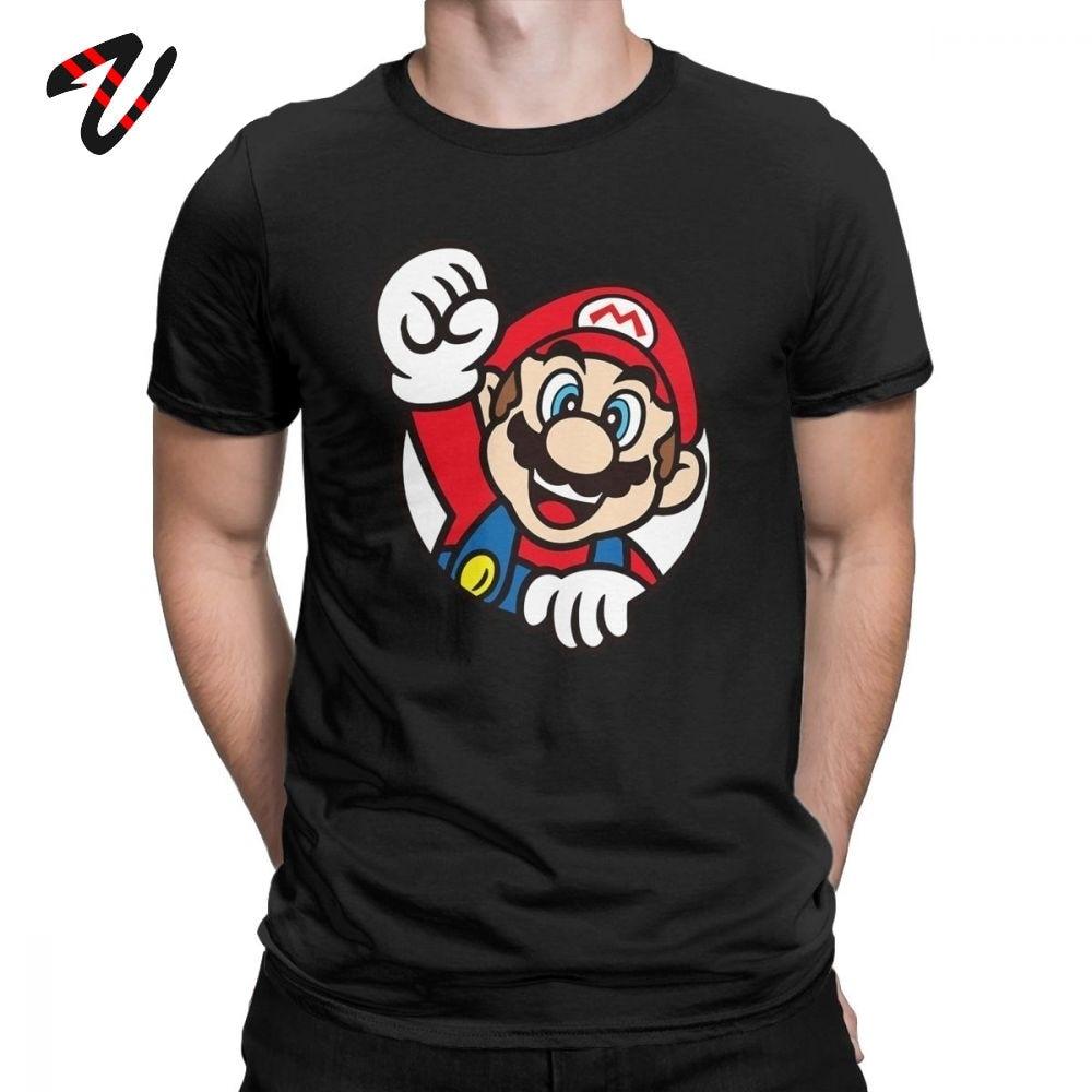 Men's T-Shirts Super Mario Game Tshirt Fashion Cotton Tees Short Sleeve T Shirt Round Collar Clothing Best Gift Idea Custom Tops