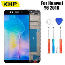 KHP AAAA Original LCD For Huawei Y6 2018 LCD Display Frame Touch Screen For Y6 2018 LCD Screen ATU L11 L21 L22 LX1 LX3 L31 L42 100% original new ltm170e8 l31 original new full view screen ltm170eu l21 l11