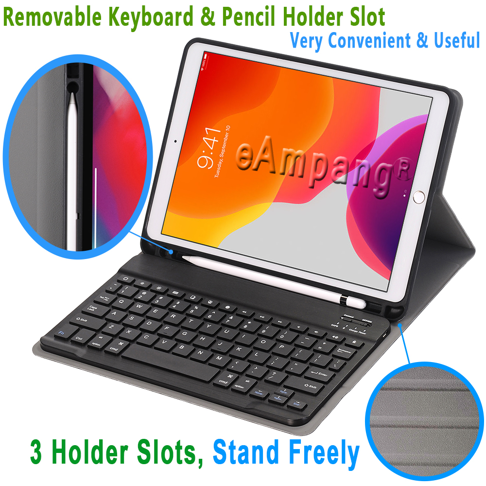 Apple Case 2019 2020 with Holder For iPad 10.2 Generation Pencil 8th for 7th iPad Keyboard