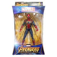 Marvel Spider Man Iron Spider Action Figure Avengers Endgame 7'' Model Toy Fan Gift 28cm marvel steel chivalrous limit edition spider bat hand do pa change superman die paternity can action figure schoolboy gift