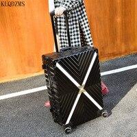KLQDZMS 20''24''26''29 Zoll Frauen Trolley Gepäck Tasche Mode männer Spinner Roll Koffer Business Rädern Koffer