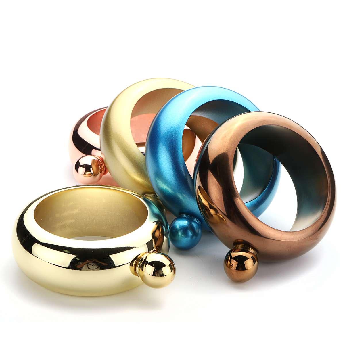 Stainless Steel Bangle Bracelet Hip Flask Alcohol Whiskey Liquor Pot Holder Drinkware Jewellery Gift