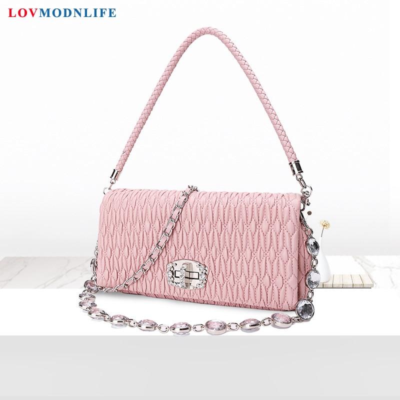 Women's Shoulder Bags Sheepskin Chain Luxury Mini Ladies Handbags Genuine Leather A Little Bag Small Bags For Women Summer 2020