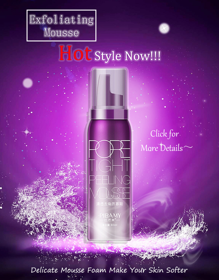 80ml Pore Tight Peeling Mousse Exfoliating Moisturizer Cleanser Removing Dead Skin Oil Control Shrink Pores Skin Care Blackhead
