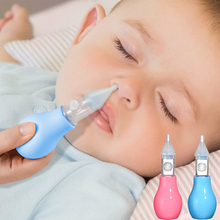 Infant silicone nasal aspirator pump type neonatal cold nasal mucus cleaner antibackflow baby nasal aspirator safe and non-toxic