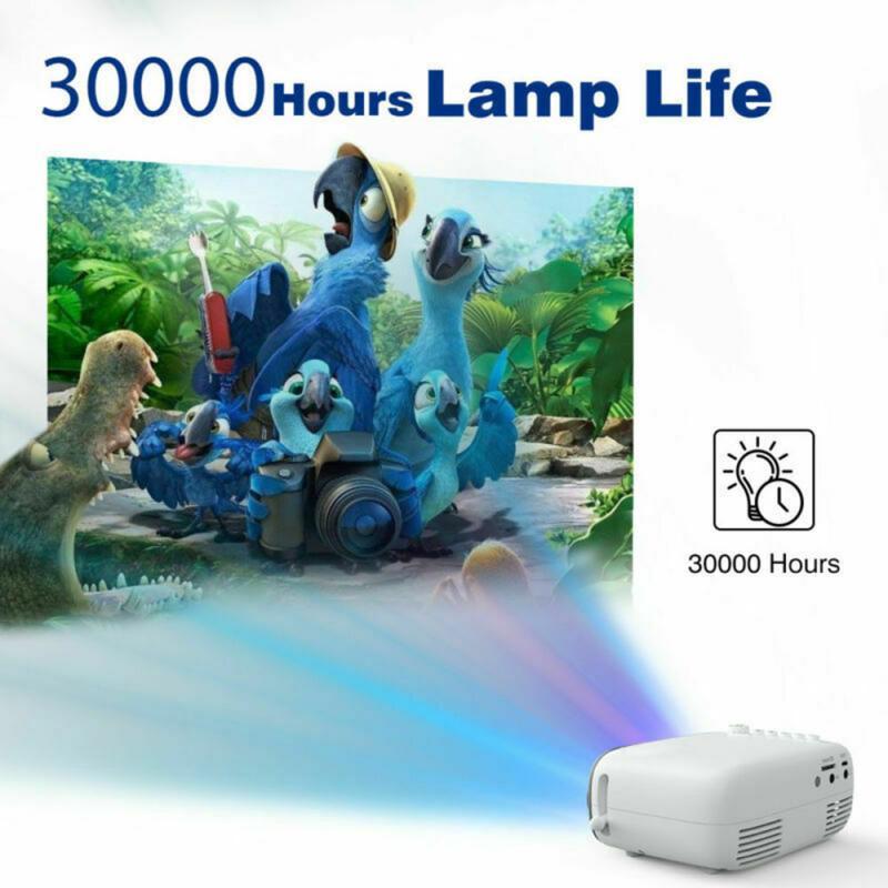 2020 mini 1080p led mini projetor para o telefone celular de cinema em casa smartphone completo hd projetores mini projetor para o dia das bruxas móvel-2
