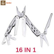 Youpin cuchillo plegable multifunción NEXTOOL 16 en 1, abrebotellas, destornillador/alicates, cuchillos del ejército de acero inoxidable, caza y Camping