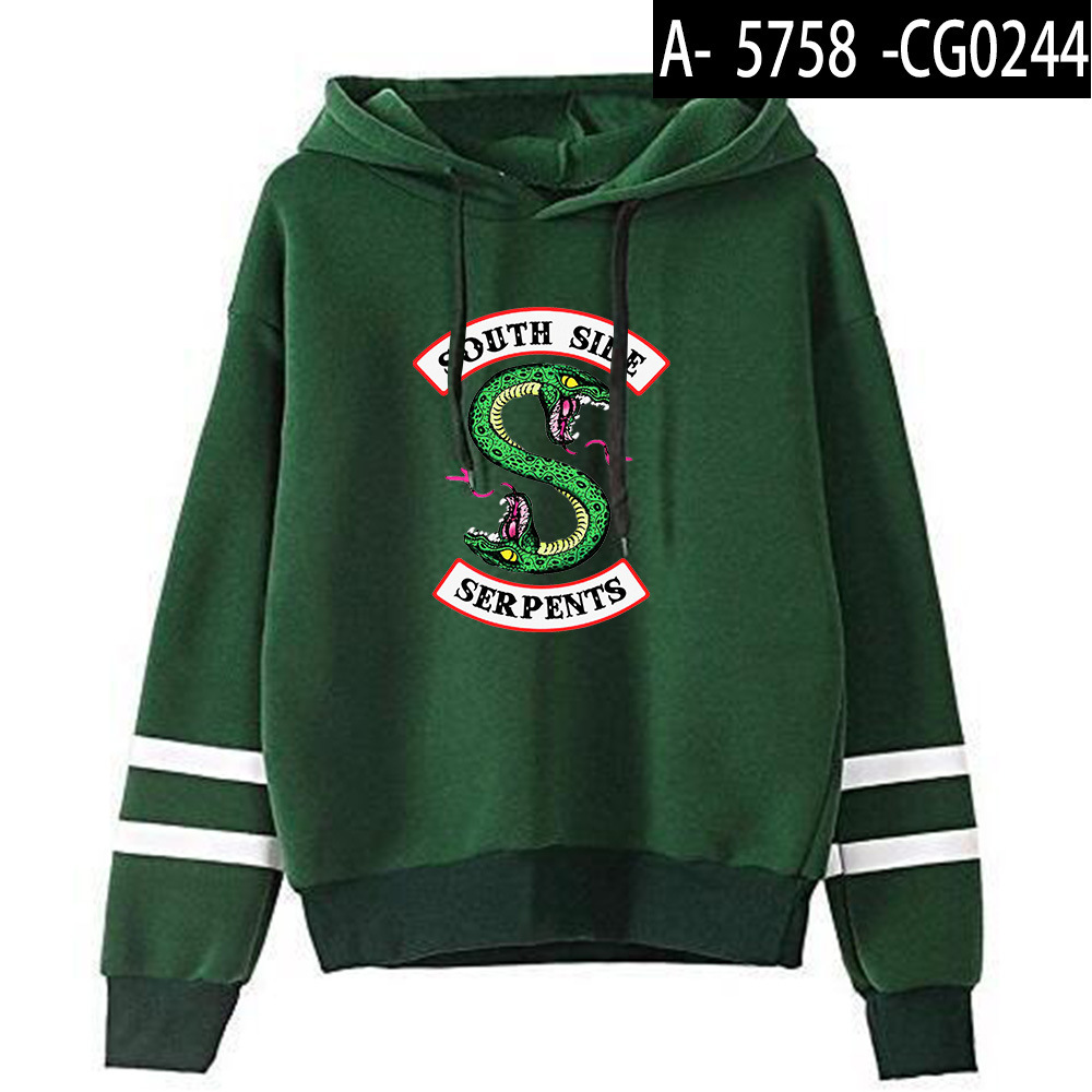 Riverdale Southside Serpents Hoodies Sweatshirts MenS Women South Side Serpents Hoodie Long Sleeve Striped Pullover Top Oversize 16