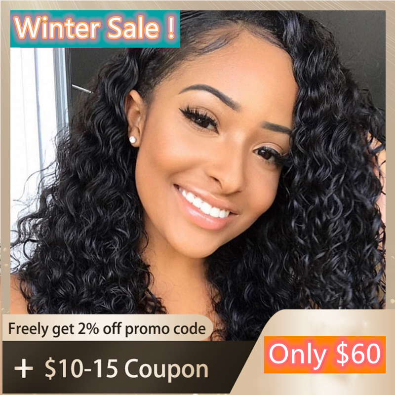 U Part Wig Water Wave Human Hair Wigs Right Part 150 Density Brazilian Remy Glueless Water Wave Wig Full End For Women WoWEbony