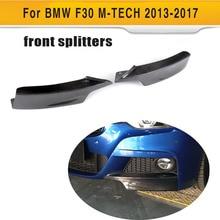 Для F30 карпередового бампера из углеродного волокна разветвитель для BMW F30 320i 325i 328i 335i M Sport Sedan 4 двери 13-17 передние закрылки для губ