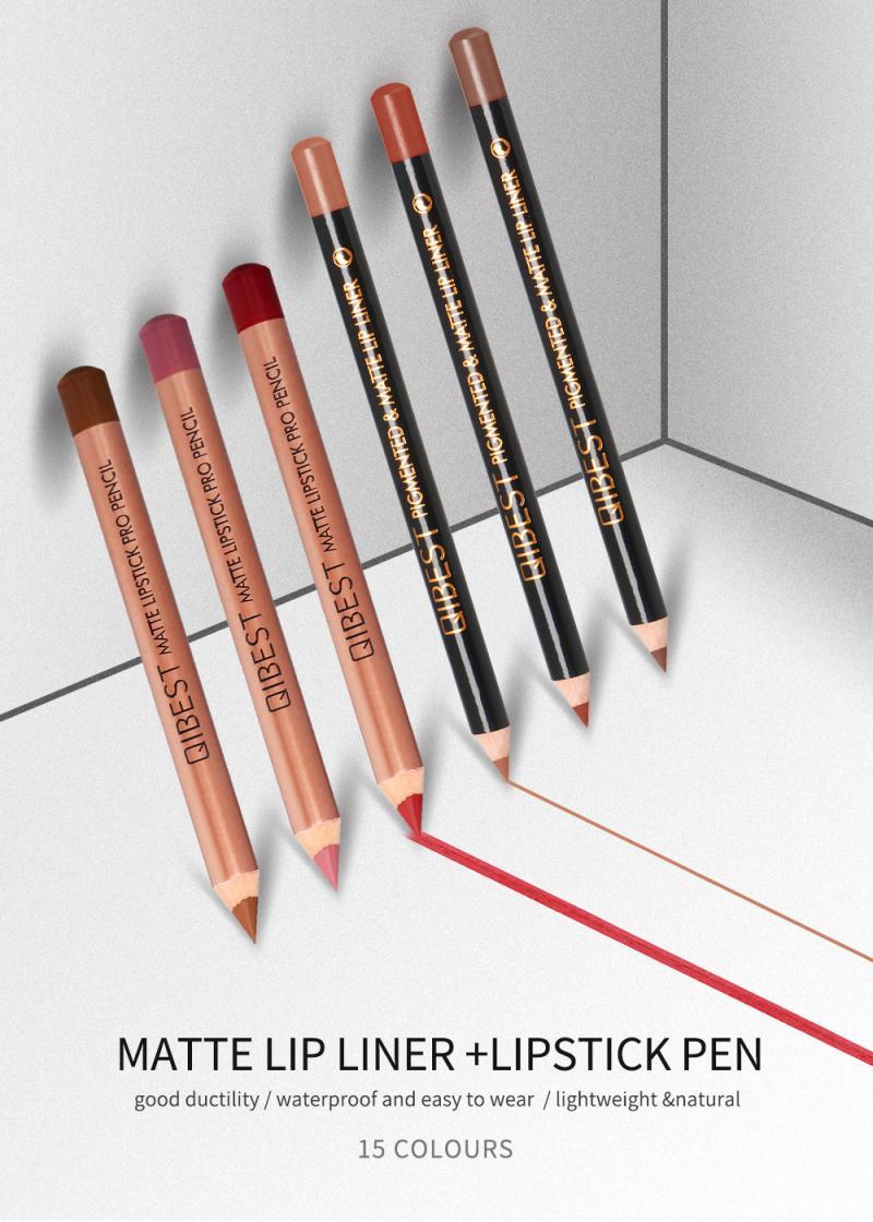Waterproof Pencil Lipstick Pen Matte Lip Liner Lasting Multifunct LipLiner National Makeup Comestics Tools Easy To Wear TSLM1